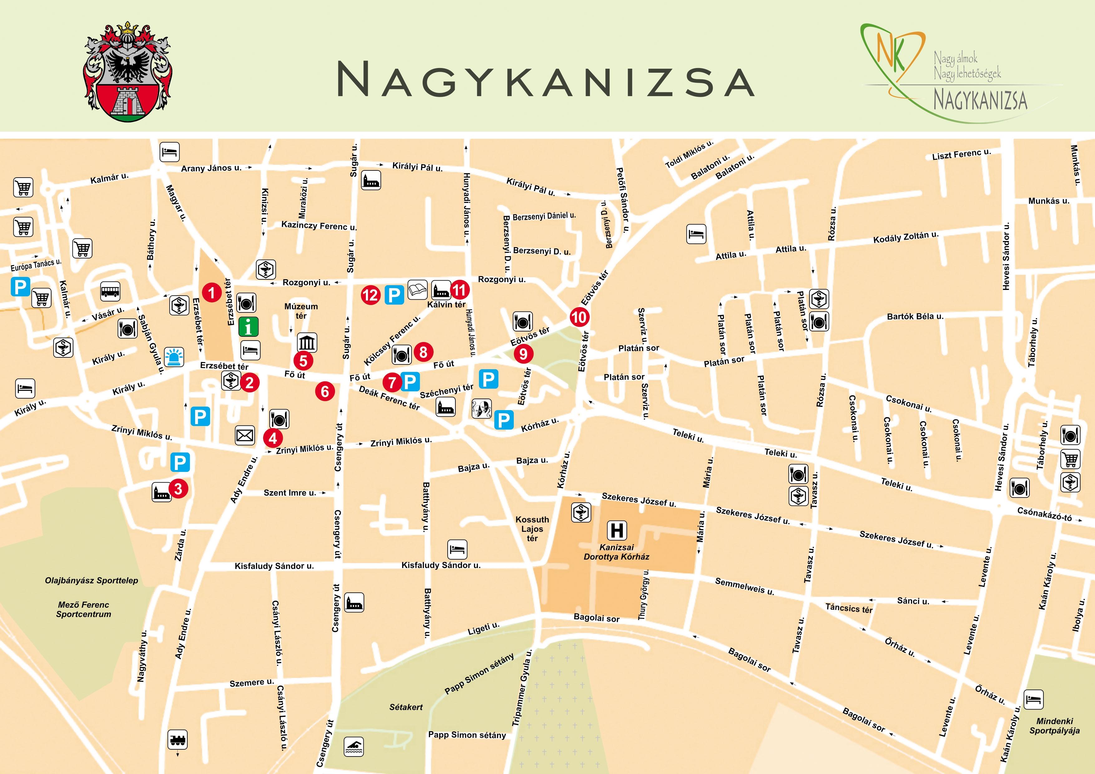 nagykanizsa térkép Tourinform Nagykanizsa |  a zöld város! nagykanizsa térkép